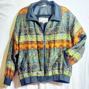 Vintage Silk Numina Sport Zip Jacket 90s Style